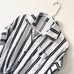 Tops - 3 for $30 Striped Button Down Casual